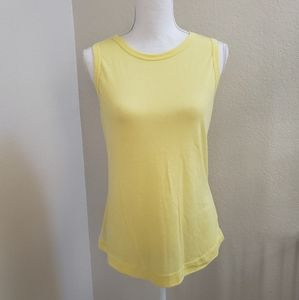 Socialite Yellow Sleeveless Top